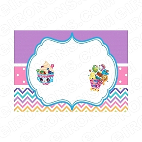 SHOPKINS BLANK EDITABLE INVITATION INSTANT DOWNLOAD #IS6