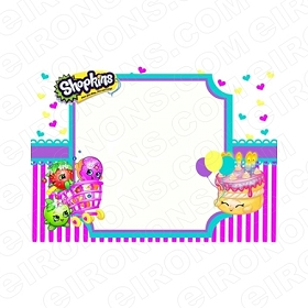 SHOPKINS BLANK EDITABLE INVITATION INSTANT DOWNLOAD #IS7