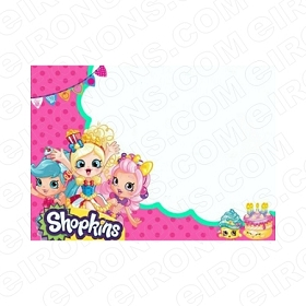 SHOPKINS BLANK EDITABLE INVITATION INSTANT DOWNLOAD #IS9