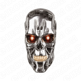 SKULL TERMINATOR T-SHIRT IRON-ON TRANSFER DECAL #S26