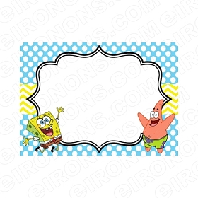 SPONGEBOB SQUAREPANTS BLANK EDITABLE INVITATION INSTANT DOWNLOAD #ISS6