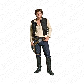 STAR WARS HAN SOLO MOVIE T-SHIRT IRON-ON TRANSFER DECAL #MSWS6