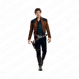 STAR WARS HAN SOLO MOVIE T-SHIRT IRON-ON TRANSFER DECAL #MSWS5