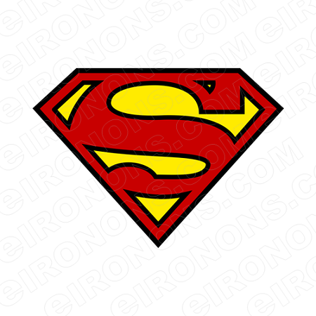 SUPERMAN LOGO RED AND YELLOW COMIC T-SHIRT IRON-ON ...