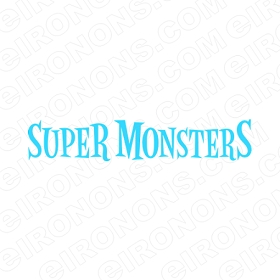 SUPER MONSTERS LOGO CHARACTER T-SHIRT IRON-ON TRANSFER DECAL #CSM6