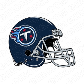 TENNESSEE TITANS HELMET LOGO SPORTS NFL FOOTBALL T-SHIRT IRON-ON TRANSFER DECAL #SFTT1
