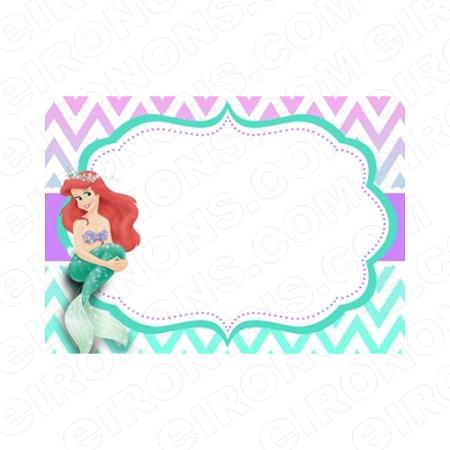 The Little Mermaid Blank Editable Invitation Instant
