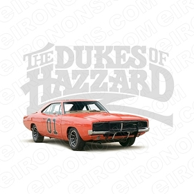 THE DUKES OF HAZZARD LOGO AND GENERALLEE MOVIE TV T-SHIRT IRON-ON TRANSFER DECAL #TDOH3