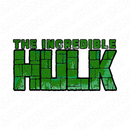 the incredible hulk logo comic t shirt iron on transfer decal ctih1 rh eironons com hulk logo png hulk logo hd