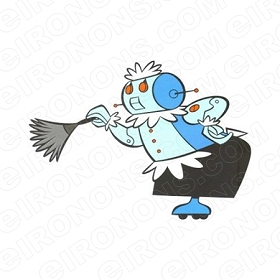 THE JETSONS ROSIE DUSTING CHARACTER T-SHIRT IRON-ON TRANSFER DECAL #CTJ13