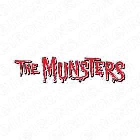 THE MUNSTERS LOGO MOVIE TV T-SHIRT IRON-ON TRANSFER DECAL #TM6