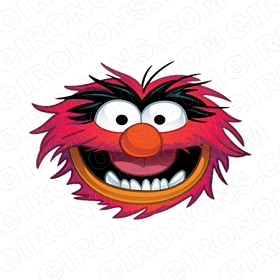 THE MUPPETS ANIMAL BIG HEAD TV CLIPART PNG IMAGE SCRAPBOOK INSTANT DOWNLOAD #TVTM22