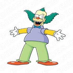 THE SIMPSONS KRUSTY THE CLOWN CHARACTER T-SHIRT IRON-ON TRANSFER DECAL #CTS16