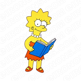 THE SIMPSONS LISA READING CHARACTER T-SHIRT IRON-ON TRANSFER DECAL #CTS19