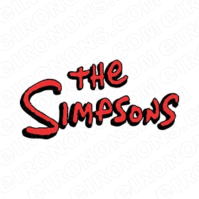 THE SIMPSONS LOGO CHARACTER T-SHIRT IRON-ON TRANSFER DECAL #CTS20
