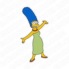 THE SIMPSONS MARGE CHARACTER T-SHIRT IRON-ON TRANSFER DECAL #CTS22