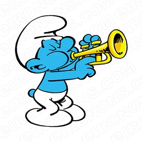 THE SMURFS HARMONY SMURF SITTING CHARACTER T-SHIRT IRON-ON TRANSFER DECAL #CTS7
