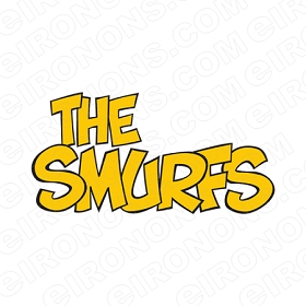 THE SMURFS LOGO CHARACTER T-SHIRT IRON-ON TRANSFER DECAL #CTS10