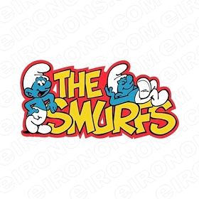 THE SMURFS LOGO CHARACTER T-SHIRT IRON-ON TRANSFER DECAL #CTS11