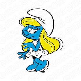 THE SMURFS SMURFETTE SMURF CHARACTER T-SHIRT IRON-ON TRANSFER DECAL #CTS14