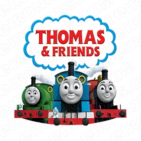 THOMAS & FRIENDS LOGO CHARACTER T-SHIRT IRON-ON TRANSFER DECAL #CTAF1