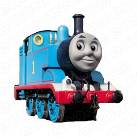 THOMAS & FRIENDS THOMAS THE TANK CHARACTER T-SHIRT IRON-ON TRANSFER DECAL #CTAF8