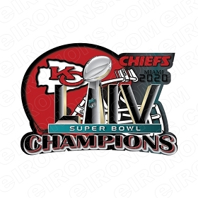 KANSAS CITY CHIEFS SUPERBOWL 54 2020 CHAMPIONS LOGO SPORTS NFL FOOTBALL T-SHIRT IRON-ON TRANSFER DECAL #SFKCC3