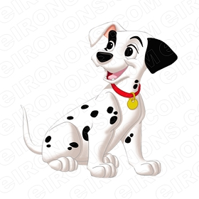101 DALMATIANS LUCKY CHARACTER CLIPART PNG IMAGE SCRAPBOOK INSTANT DOWNLOAD