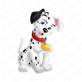 101 DALMATIANS LUCKY PAW UP CHARACTER CLIPART PNG IMAGE SCRAPBOOK INSTANT DOWNLOAD