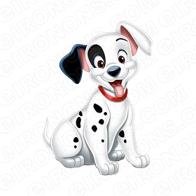 101 DALMATIANS PATCH CHARACTER CLIPART PNG IMAGE SCRAPBOOK INSTANT DOWNLOAD