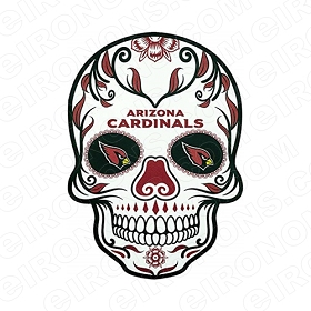 ARIZONA CARDINALS SKULL LOGO SPORTS NFL FOOTBALL T-SHIRT IRON-ON TRANSFER DECAL #SFAC10