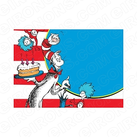 DR SEUSS BLANK EDITABLE INVITATION INSTANT DOWNLOAD #IDS11