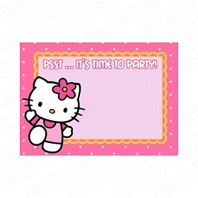 HELLO KITTY BLANK EDITABLE INVITATION INSTANT DOWNLOAD #IHK4