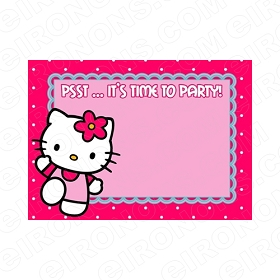 HELLO KITTY BLANK EDITABLE INVITATION INSTANT DOWNLOAD #IHK6