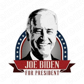 JOE BIDEN BIG HEAD FOR PRESIDENT POLITICAL DEMOCRAT T-SHIRT IRON-ON TRANSFER DECAL #PDJB1