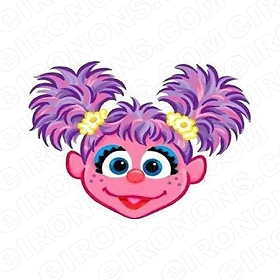 ABBY CADABBY HEAD CHARACTER T-SHIRT IRON-ON TRANSFER DECAL #CAC3