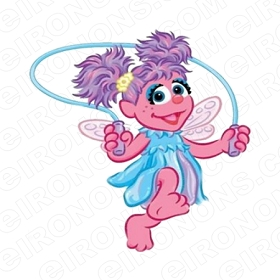ABBY CADABBY JUMPING ROPE CHARACTER T-SHIRT IRON-ON TRANSFER DECAL #CAC5