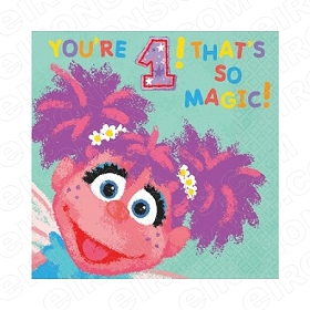 ABBY CADABBY YOU'RE 1! THAT'S SO MAGIC! 1ST BIRTHDAY T-SHIRT IRON-ON TRANSFER DECAL #FBAC1