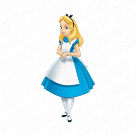 ALICE IN WONDERLAND ALICE STANDING CHARACTER T-SHIRT IRON-ON TRANSFER DECAL #CAIW1