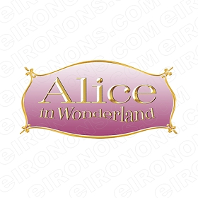 ALICE IN WONDERLAND LOGO CHARACTER T-SHIRT IRON-ON TRANSFER DECAL #CAIW5