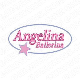ANGELINA BALLERINA LOGO CHARACTER T-SHIRT IRON-ON TRANSFER DECAL #CAB6