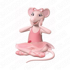 ANGELINA BALLERINA SITTING CHARACTER T-SHIRT IRON-ON TRANSFER DECAL #CAB9