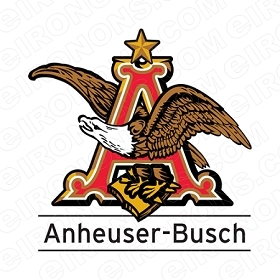 ANHEUSER-BUSCH LOGO ALCOHOL T-SHIRT IRON-ON TRANSFER DECAL #AB5