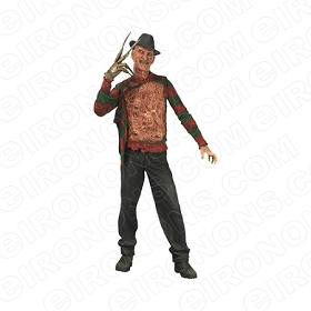 A NIGHTMARE ON ELM STREET FREDDY KRUEGER CHEST EXPOSED MOVIE T-SHIRT IRON-ON TRANSFER DECAL #NMOES7