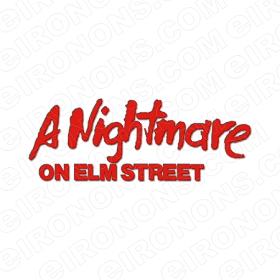 A NIGHTMARE ON ELM STREET LOGO RED MOVIE T-SHIRT IRON-ON TRANSFER DECAL #NMOES9