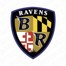 BALTIMORE RAVENS  LOGO SPORTS NFL FOOTBALL T-SHIRT IRON-ON TRANSFER DECAL #SFBR2