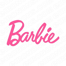 BARBIE LOGO CHARACTER T-SHIRT IRON-ON TRANSFER DECAL #CB2
