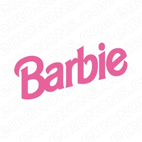 BARBIE LOGO CHARACTER T-SHIRT IRON-ON TRANSFER DECAL #CB3