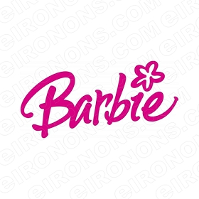 BARBIE LOGO CHARACTER T-SHIRT IRON-ON TRANSFER DECAL #CB4