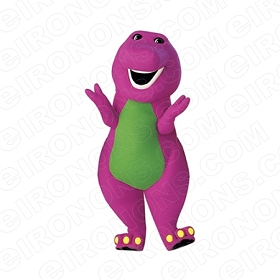 BARNEY ARMS OUT CHARACTER T-SHIRT IRON-ON TRANSFER DECAL #CB6